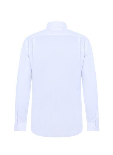 Kiğılı Klasik Gömlek Beyaz